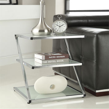 Chrome Finish Glass Chair Side End Table | Overstock.com Shopping - The Best Deals on Coffee, Sofa & End Tables