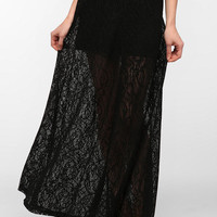Urban Outfitters - Pin And Needles Lace A-Line Maxi Skirt