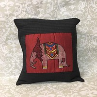 Silk   HandEmbroidered Pillow Cover