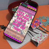 One Direction Cute As A Button Quote iPhone Case and Samsung Galaxy Case