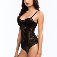 Sheer Thing Paneled Lace Bodysuit