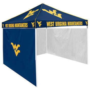 West Virginia Mountaineers NCAA 9' x 9' Solid Color Pop-Up Tailgate Canopy Tent With Side Wall