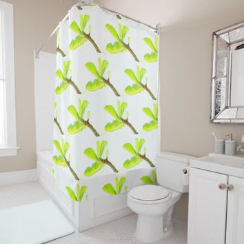 Stylish Green Kudu Lily Leaves Shower Cusrtain Shower Curtain