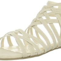 C Label Women's DITA-21 Sandal,Beige,8.5 M US