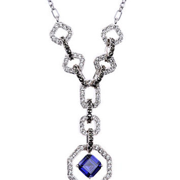 Judith Jack Sterling Silver and Crystal Geometric Pendant Necklace