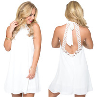April Showers Dress in White
