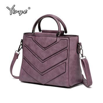 YBYT brand 2018 new casual simple women totes high quality ladies round metal handle handbags shoulder messenger crossbody bags
