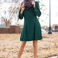 All The Trimmings Dress, Dark Green