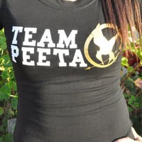 Team Peeta Hunger Games T-Shirt Size: Small to Extra Large