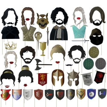 Musykrafties GOT Party Game Thrones Inspired Photo Booth Props 52 Count