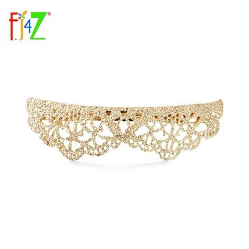 F.J4Z Brand 2017 Hot Hairclips Jewely Fashion Stylish Elegant Lace Golden Girl's Metal Hairpin Decoration For Women Biloux