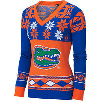 """Florida Gators Women's Official NCAA """"Big Logo"""" V-Neck Sweater by Klew"""