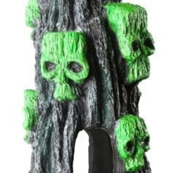 AQUATICS - ORNAMENTS/DECOR - NEON GREEN SPOOKY MOUNTAIN -  - ELIVE, LLC - UPC: 81997014256 - DEPT: AQUATIC PRODUCTS
