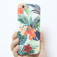Elegant Summer Flowers Print Tough Protective iPhone 6s Case iPhone 6 plus S7 Edge SE Snap Case 238
