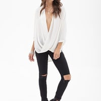 FOREVER 21 Twisted Hem Woven Top