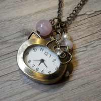 SALE! Hello Kitty pocket watch necklace