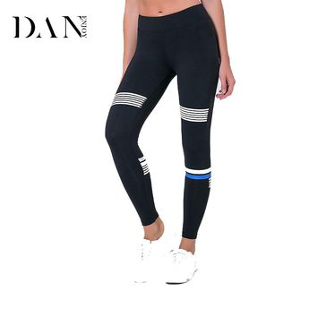 Sexy Women Yoga Pants Fitness Sport Printing Leggings High Elastic Running Tights Polyester Fabric Female