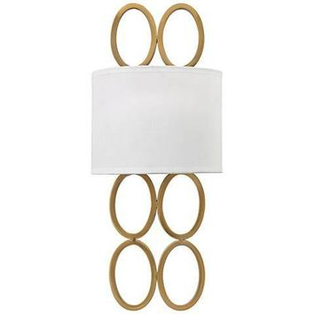 Oval Rings Silver or Gold Wall Sconce