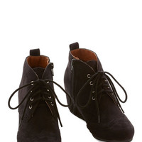 ModCloth Menswear Inspired Quill of the Night Bootie in Black