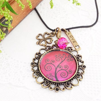 Tree Of Life Antique Bronze Pendant Midori Traveler's Notebook Charm