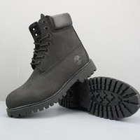 Timberland Leather Lace-Up Boot High Black - Best Deal Online