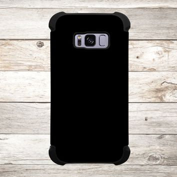 Solid Color Black for Apple iPhone, Samsung Galaxy, and Google Pixel