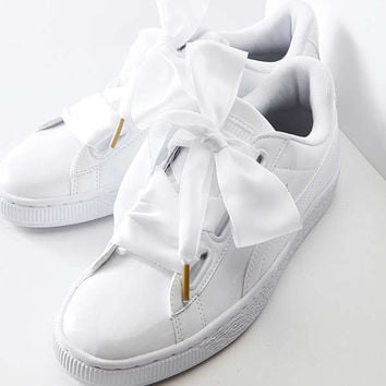 Puma Basket Heart Patent Leather Sneaker   Urban Outfitters