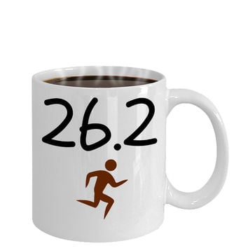 26.2 Marathon Runners Novelty Coffee Mug Athletes Sports Competition Long Distance Runners