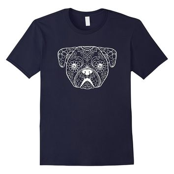 Pug Sugar Skull Day of The Dead Pug Dog Lovers T-Shirt