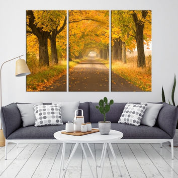 36880 - Forest Wall Art- Autumn Canvas Print- Forest Canvas- Forest Canvas Art- National Art Print- Canvas Print- Large Wall Art-