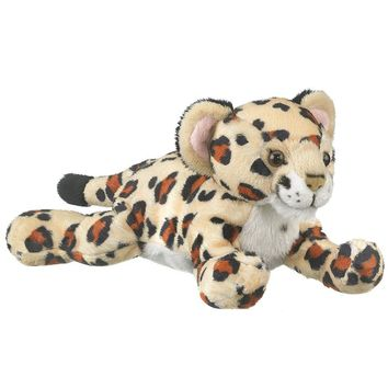 "9"" Lying Jaguar Cub Stuffed Animals Floppy Zoo Animal Conservation Collection"