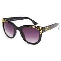 Full Tilt Golden Eye Sunglasses Black One Size For Women 22176410001