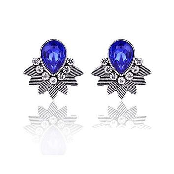 Fancy Police Support Stone Earrings