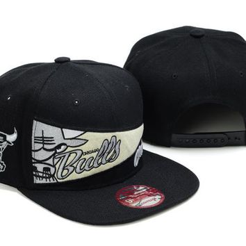 auguau Chicago Bulls NBA 9FIFTY Cap Windy City Patch Black