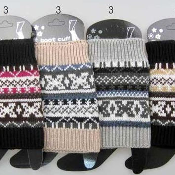 knitted pattern boot topper leg warmers Case of 12