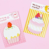 Cupcake and Macaron Sticky Notes