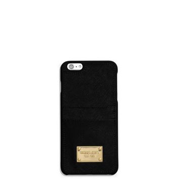 Saffiano Leather Pocket Smartphone Case | Michael Kors