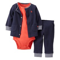 Carter's Nautical Thermal Cardigan Set - Baby, Size: