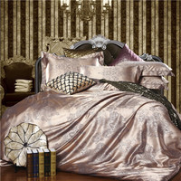 Home bedding set Jacquard duvet cover set 4pcs bed linens luxurious bedclothes queen king size