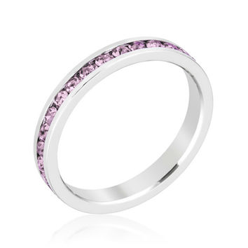 Gail Light Amethyst Purple Eternity Stackable Wedding Ring | 1 Carat | Crystal