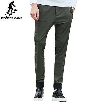New Spring casual pants men clothing fashion army green trousers male top quality slim fit pants