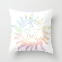 Supernatural Symbol Throw Pillow by Tati