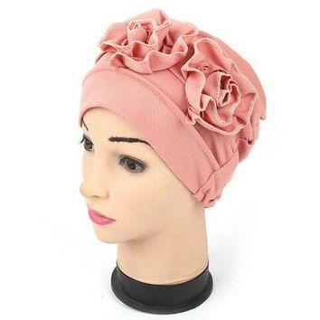 Muslim Fashion Women's Hijabs Scarf Cap Girl Indian Hat Bonnet Chemo Hijab Turban Cap Beanie Hat Head Wrap Scarf Cover QDD9009