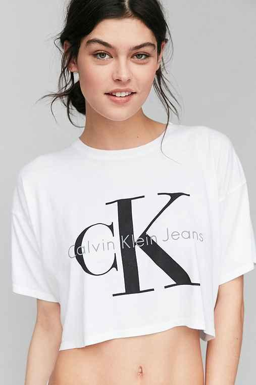 206e1004da28f9 Calvin Klein For UO Cropped Tee Shirt from Urban Outfitters