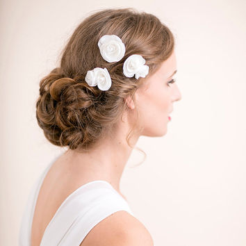Bridal Flower Hair Pin Rose - Bridal Hair Accessory Rose Hair Pins - Wedding Hair Accessory - Bridal Hair Pin