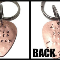 Personalized Two-Sided Guitar Pick Keychain- Father's Day Gift, Gifts for Men, Gift for Husband, Gifts for Musicians