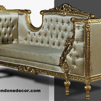 Exquisite Louis XVI Style Rococo Palace Sofa