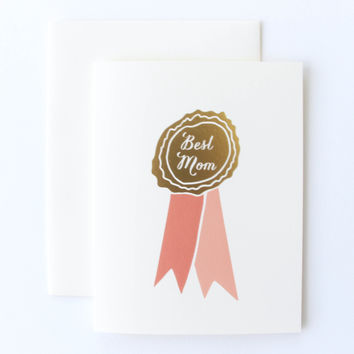 Best Mom Ribbon Card