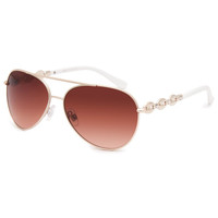 Full Tilt Double Play Sunglasses Gold One Size For Women 25585862101