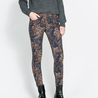 FLORAL PRINT TROUSERS - Woman - New this week | ZARA United States
